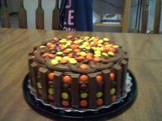 Kit Kat Reeses cake