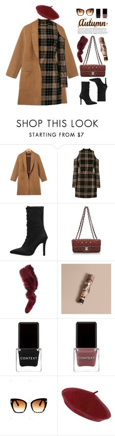 """""""Untitled #3980"""" by beebeely-look ❤ liked on Polyvore featuring Balmain, Chanel, Charlotte Simone, Burberry, Context, Accessorize, Cullen, StreetStyle, WorkWear and streetwear"""