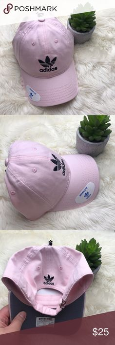 """[Adidas] Original Relaxed Strapback Hat NEW ▪️new with tags   ▪️""""clear pink"""" and black color  ▪️adjustable strapback   ▪️no trades adidas Accessories Hats"""