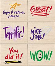 Stamps of Approval 6 Rubber Stamps for Teachers & by myrubberstamp