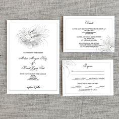 Wedding Invitation Template, Rustic Wedding Invitation Bundle, Wedding Printable, Wedding Communication Template Set, PDF Instant Download