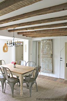 """That's My Letter: """"C"""" is for Ceiling Makeover, how to expose wood beams"""