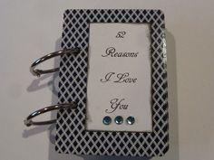 Valentine's Day Gift Idea : 52 Reasons I Love You - blue. $15.95, via Etsy.