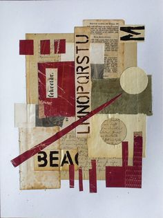 Collage with old book pages - Abstract acrylic, art,kunst, mixed media, Abstrakte kunst Newspaper Collage, Paper Collage Art, Collage Drawing, Collage Art Mixed Media, Kunstjournal Inspiration, Art Journal Inspiration, Art And Illustration, Wort Collage, Collage Online