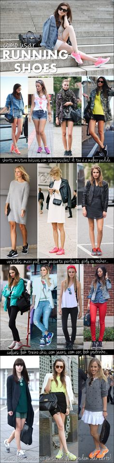 Running shoes: how to wear them fashionably