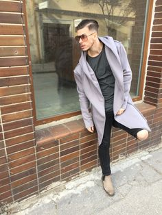 Cardigan with quilted pattern and huge scarf in front with a hoodRelaxed fit and keep heavy weight PES Cotton Neutral, Suit Jacket, Blazer, Mens Fashion, Model, Cotton, How To Wear, Jackets, Style