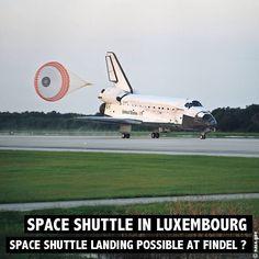 Spaceshuttle Landung in Luxemburg. Wäre ein solches Szenario überhaupt möglich gewesen. Mehr zum Mythos rund um die Spaceshuttles gibt es auf www.rosportlife.com