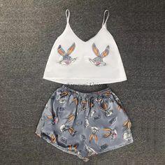 Sexy Pajamas, Cute Pajamas, Pajamas Women, Pyjamas, Summer Pajamas, Pajama Outfits, Lazy Outfits, Pajama Shorts, Cute Outfits