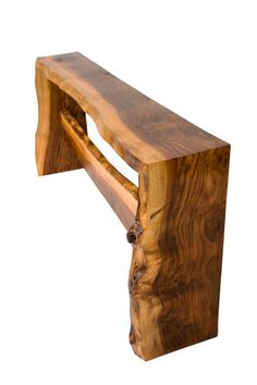 Claro Walnut Natural Edge Console Table by WalnutCreations on Etsy, $5000.00