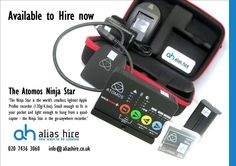 The Atomos Ninja Star. Available to hire now. Ninja Star, Hiring Now, Small World, Quad, Stars, Quad Bike