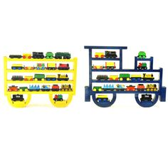 Painted (You choose color) Engine & Coal Car / Tender Wooden Wall Storage Train Rack Organizer for Thomas Tank Engine and Brio Tracks