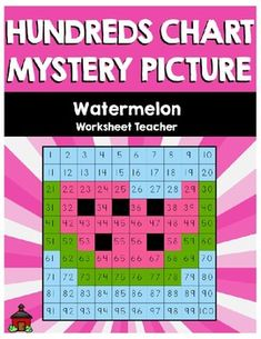 Watermelon Hundreds Chart Mystery Picture from Worksheet Teacher 6th Grade Worksheets, Physical Education Games, Health Education, Hundreds Chart, Teaching Style, School Bulletin Boards, Magazines For Kids, Kindergarten Math, Teacher Pay Teachers