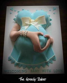 Pregnant Belly Cake - by TheGreedyBaker @ CakesDecor.com - cake decorating website