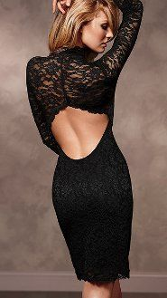"""Everyone should have one"" black lace dress"