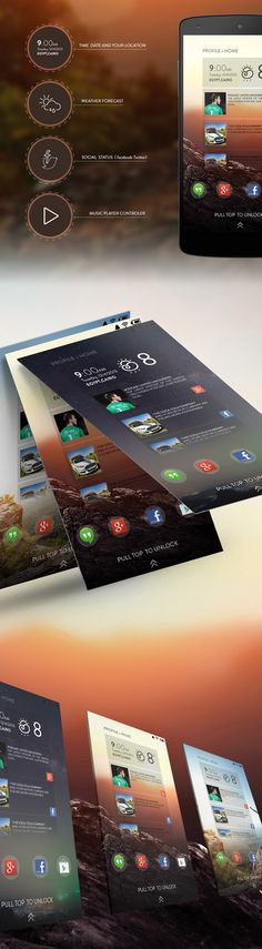 Android Lock-screen UI Designs and Concepts for Inspiration