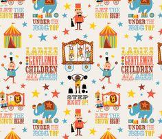 Circus fabric by edward_elementary on Spoonflower - custom fabric