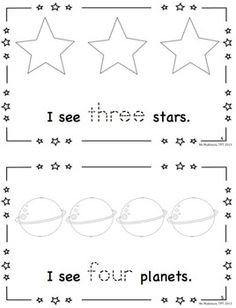 Space Theme Activities Pack - Emergent Reader