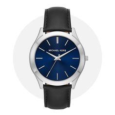 Michael Kors Slim Runway Blue Black Mk8620 Michael Kors Watch, Omega Watch, Runway, Quartz, Slim, Watches, Band, Leather, Accessories