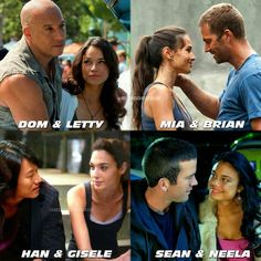 Brian and Mia 😭😍 Letty Fast And Furious, Fast And Furious Memes, Movie Fast And Furious, Fast & Furious 5, Furious Movie, The Furious, Michelle Rodriguez, Vin Diesel, Gal Gadot
