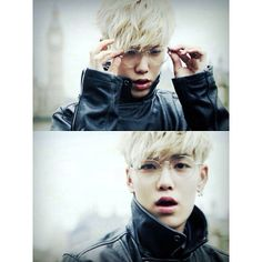 He looks so cute with glasses! Zelo