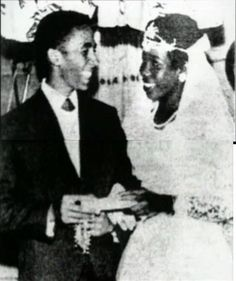 Bob & Rita Marley on their wedding day (Febuary 10, 1966)