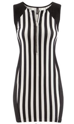 H vertical stripe dress