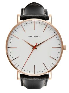 f28611ddad3 Black top grain Italian leather strap  The classic slim wrist watch