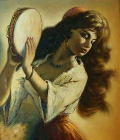 """Our original Gypsy; the most famous of all, """"Madame Chole""""! She opened Gabi's """"Magic"""" birthday party with a wild Gypsy dance and her tambourine among our guests.  She was a great hit!"""
