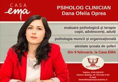 Dana Ofelia Oprea are cabinet psihologic la Casa EMA!