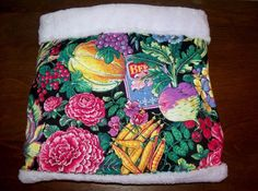 """Vegetables Warm Guinea Pig Pouch Bag Cozy Bed Snuggle Rabbit Ferret 12"""" x 12'' Guinea Pig Accessories, Cozies, Cozy Bed, Pet Beds, Pouch Bag, Ferret, Guinea Pigs, Make And Sell, Snuggles"""