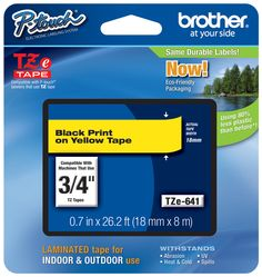 Brother TZ-641 p-touch tape  #Brother #LabelIt #ptouchdirect.com #organization #DIY