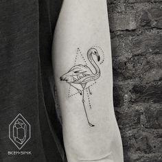 Flamingo Tattoo by Bicem Sinik
