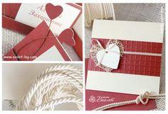 Heart themed wedding invitation and stationery