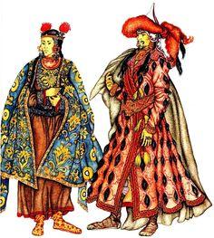 женская и мужская одежда монголо-татар
