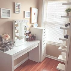 """1,318 Likes, 21 Comments - Impressions Vanity Co. (@impressionsvanity) on Instagram: """"Our New Year's resolution is to keep our #glamroom as organized and bright as @gabysglamm ✨"""""""