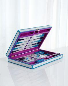 Purple Backgammon Set