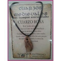 COLGANTE MEDIEVAL Cuarzo Rosa   LIBRA: 24 Septiembre - 23 Octubre