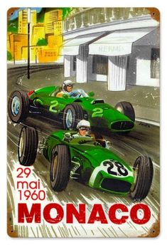 Retro Monaco Tin Sign