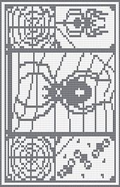 60 x 85 stitches square chart for cross stitch, filet crochet and crochet colourwork