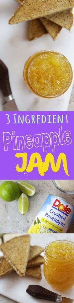 This 3 ingredient Pineapple Jam is quick and easy to make, and best of all, it tastes amazing.