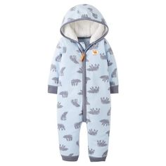 35aa0a5a7 Baby Boys' Fleece Hooded Blue Bears Jumpsuit Just One You™ Made by Carter's®
