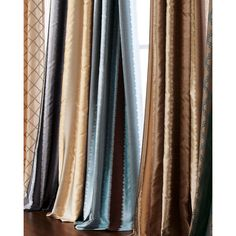 Each 96L Curtain ($75) ❤ liked on Polyvore featuring home, home decor, window treatments, curtains, tab curtains, stripe curtains, striped curtains, rod pocket curtains and lining curtains