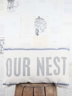 Wedding Gifts. Our Nest Pillow