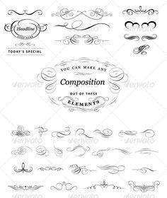 Calligraphic elements set - GraphicRiver Item for Sale