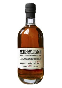 Widow Jane Straight Bourbon Whiskey. Made in Brooklyn with water from Rosendale, NY.