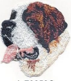 "1 7//8/"" x 2 1//8/"" Head Portrait Bernese Mountain Dog Breed Embroidery Patch"