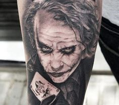 Realistic black and gray tattoo of Batman by Miguel Bohigues