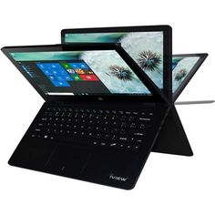 Laptop or tablet? How about both? The 13.3 Convertible Touchscreen Laptop with Windows 10 by Iview can be used as a laptop or as tablet thanks to its hinged design. Other features include 32 GB of internal storage and front and rear cameras. Buy now and pay for it later with Wards Credit.