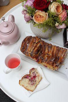 Pull-apart Cake mit Früchtetee - Birne Himbeere & Verlosung #Teewichtbackparade