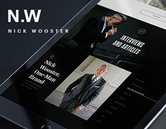 Check out this @Behance project: \u201cNick Wooster - website\u201d https://www.behance.net/gallery/42235083/Nick-Wooster-website
